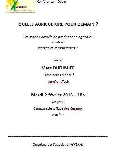 Quelle agriculture pour demain?