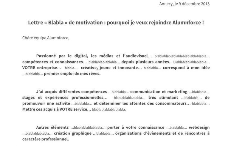 Un Clermontois d'origine écrit «blabla» dans sa lettre de motivation et décroche un CDI